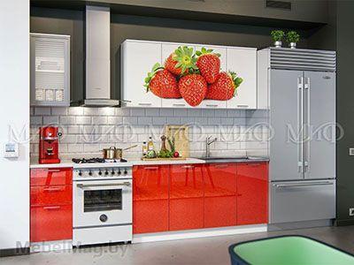 Кухня Клубника вид 1