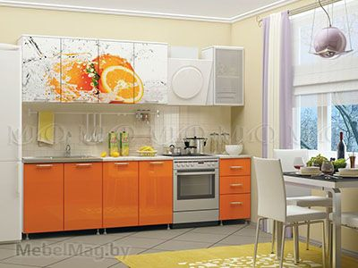 Кухня Апельсин вид 1