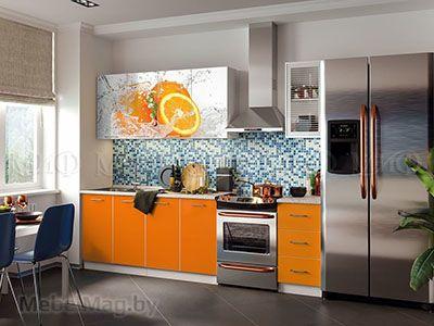 Кухня Фортуна фотопечать Апельсин вид 14