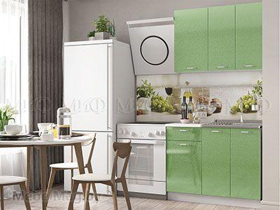 Кухня Техно (салатовый) вид 45