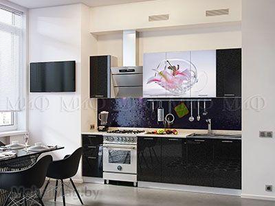 Кухня Техно (черный) вид 31