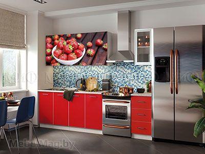 Кухня Фортуна фотопечать Красная вид 1