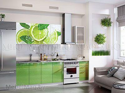Кухня Техно (салатовый) вид 48