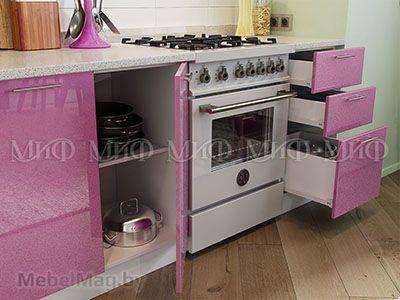 Кухня Сирень вид 2