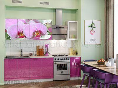 Кухня Техно (сирень) вид 24