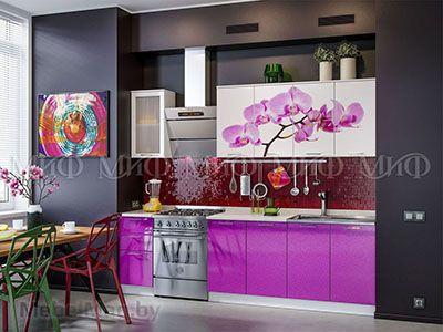Кухня Орхидея вид 1