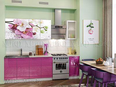 Кухня Техно (сирень) вид 26
