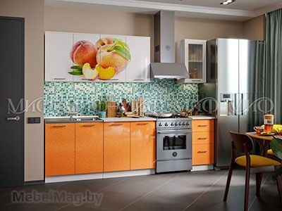Кухня Персик вид 1