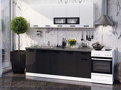 Кухня Рио чёрная вид 2