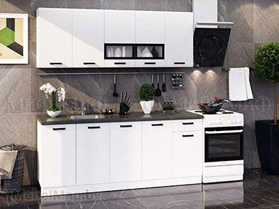 Кухня Рио белая вид 1