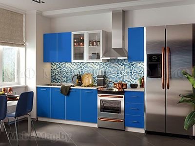 Кухня Фортуна (синяя) вид 5