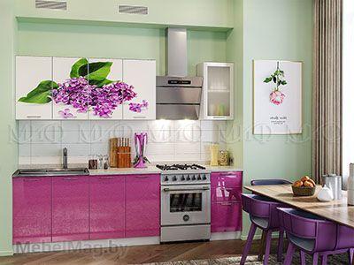 Кухня Техно (сирень) вид 19