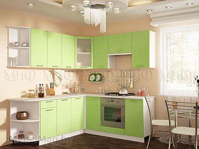 Кухня Техно (салатовый) вид 43