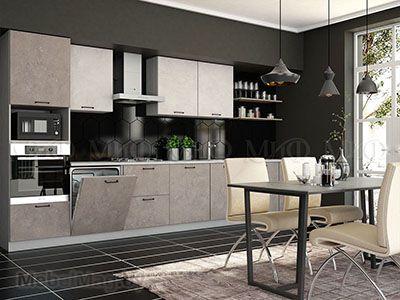 Кухня Техно бетон вид 2