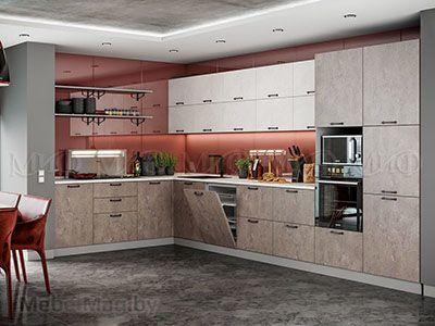 Кухня Техно бетон вид 3