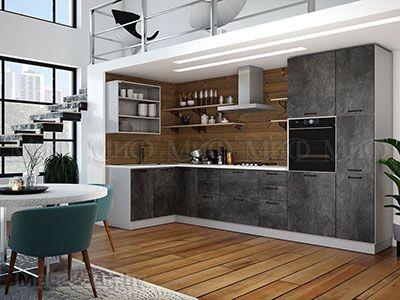 Кухня Техно камень вид 5