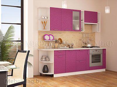 Кухня Техно (сирень) вид 21