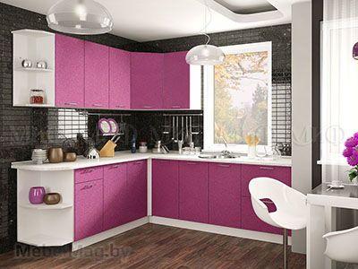 Кухня Техно (сирень) вид 22