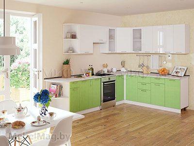 Кухня Техно (салатовый) вид 44