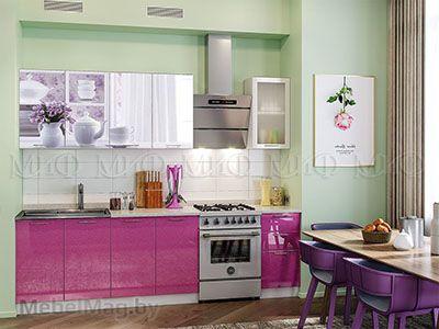 Кухня Техно (сирень) вид 20