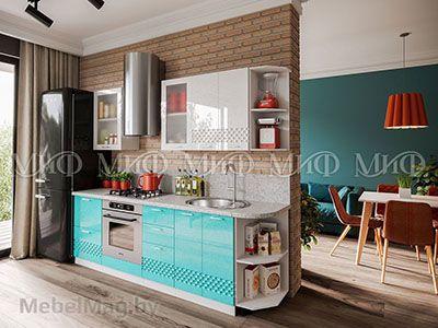 Кухня Техно (бирюза) вид 35
