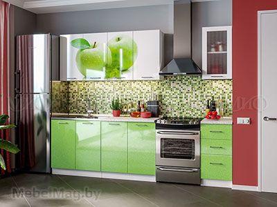 Кухня Техно (салатовый) вид 47