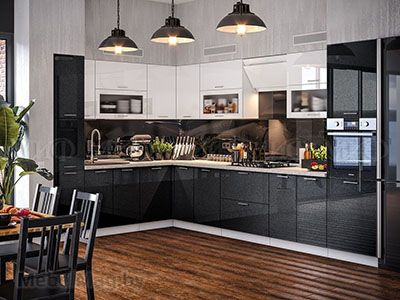 Кухня Техно (чёрный) вид 30