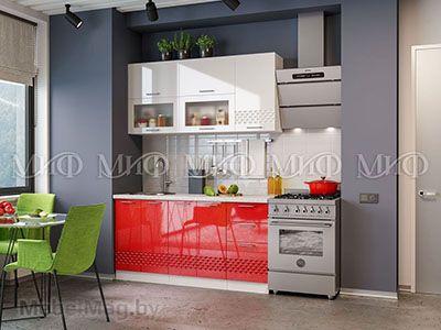 Кухня Техно (красный) вид 12