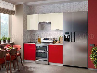 Кухня Фортуна фотопечать Красная вид 3