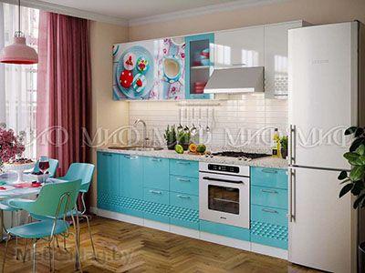 Кухня Техно (бирюза) вид 40