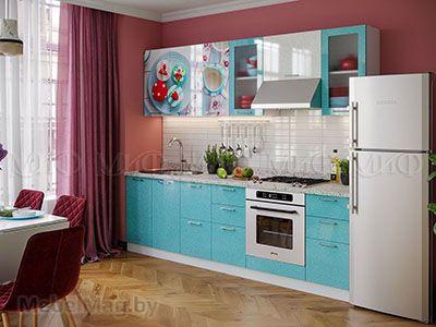 Кухня Техно (бирюза) вид 38