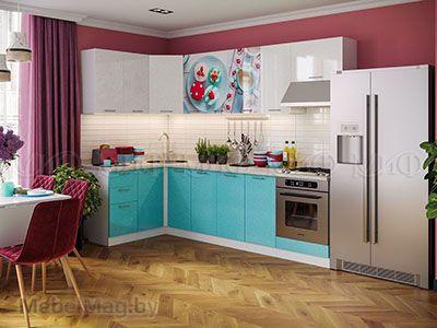 Кухня Техно (бирюза) вид 34