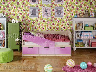 Кровать Бабочка - Глянец сиреневый