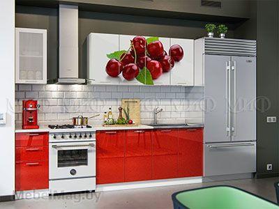 Кухня Техно (красный) вид 13