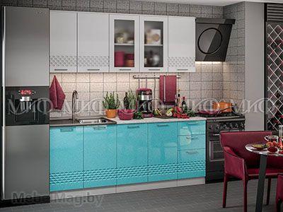 Кухня Техно (бирюза) вид 42