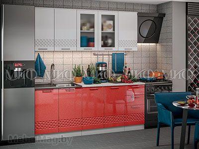 Кухня Техно (красный) вид 6