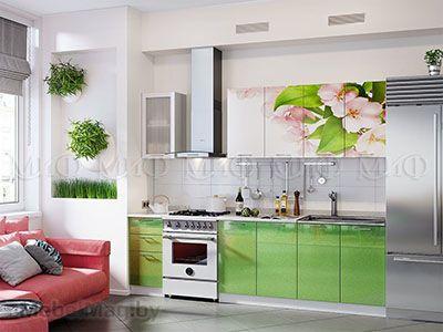 Кухня Техно (салатовый) вид 50