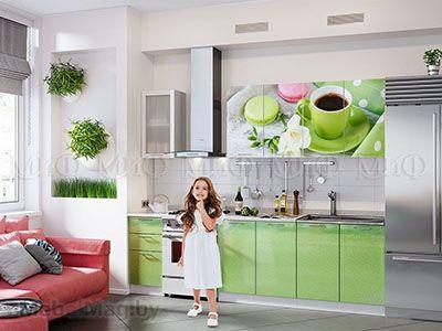 Кухня Техно (салатовый) вид 46