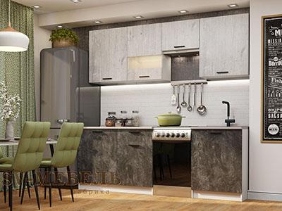 Кухня Лилия (1,7 м) - Цемент/Фенди