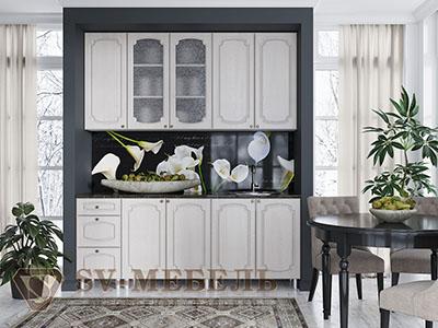 Кухня Классика Сосна - Белая (2,0м) 912