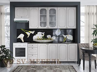 Кухня Классика Сосна - Белая (2,6м) 912
