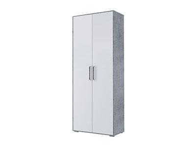 Шкаф 2-х стрв. комбинир. (без фотопечати) Цемент св./Белый - Грей