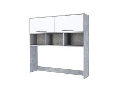 Надстройка на стол (без фотопечати) Цемент св./Белый - Грей