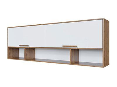 Полка навесная над кроватью (без фотопечати) Гикори тм./Белый - Гарвард