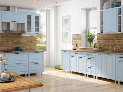 Кухня Грейвуд - Деним голубой