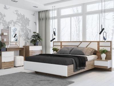Спальня Лагуна 8 Гикори тм./Белый матовый