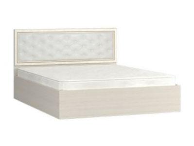 Кровать Виктория 1200 мягкое изголовье Ясень шимо светлый/Филадельфия
