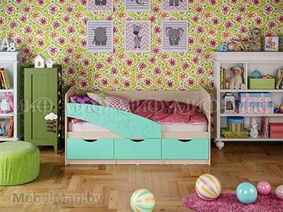 Кровать Бабочка - Матовый бирюза