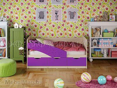 Кровать Бабочка - Матовый фиолетовый
