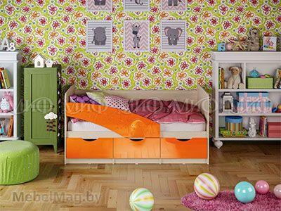 Кровать Бабочка - Глянец оранжевый